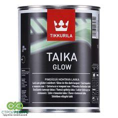 TAIKA GLOW светящийся лак водный (зеленоватое свечение в темноте), 1л Тиккурила