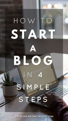 If you want to start a blog follow these 4 simple steps. You'll create a blog in as little as 5 minutes by following this simple blogging guide. The post contains a link to help you get a FREE domain name, will walk you through setting up a blog so that you can start blogging quickly. Learn blogging tips and how to make money online or earn extra cash from blogging. #blogging