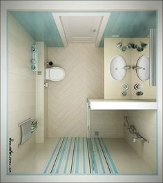 Tiny Bathroom Ideas For Floor Bathroom. Perfect Layout To Maximize Shower  Space.
