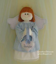 Olá, bom dia! Sejam bem vindos!   O post de hoje tem como objectivo mostrar-vos mais um dos meus anjos de tecido.   Estes anjinhos com as...