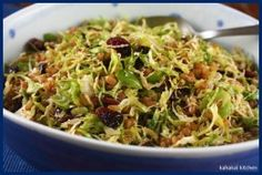 Brussels Sprouts and Wheat Berry Slaw with Smoked Paprika Dressing