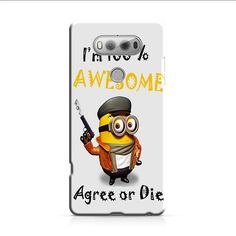 Minion Awesome Quote LG V20 3D Case