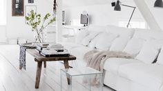 ℐℕℕℛℰⅅ ℒᎯℕⅅℒℐᎶ ℳℰⅅ ℋᏉℐᏆᏆ: Med hvite vegger og tregulv kan du skape den…