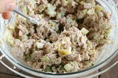 "The Best Tuna Fish Salad Sandwich-my reaction when I tried this ""oh, my...that is really good, holy moly!"""