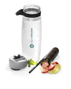 FLAVOURADE INFUSER BOTTLE - 1L Trendy & nice size. Get healthy with this Triton & BPA free infuser bottle. Has long infuser to infuse your water with flavours you like. Push-up spout. Convenient carry handle. flip-up straw 1L