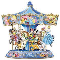 Bradford Exchange Disney Ultimate Wonderful World Of Disney Musical Carousel Disney Christmas Decorations, Disney Ornaments, Disney Home, Walt Disney, Bradford Exchange Disney, Disney Music Box, Carousel Musical, Carousel Cake, Disney Figurines