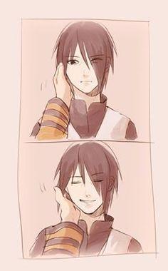 Kyaaaa <3 His smile is so cute! SasuNaru NaruSasu