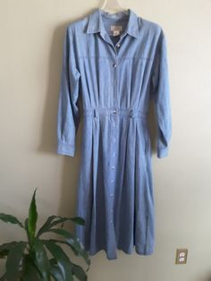 L.L.Bean Freeport Maine Denim Maxi Shirtdress Made In USA Size 14 Petite by DenimSurprises on Etsy
