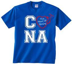 CNA The Heart Of Nursing t shirt tshirt male female nurse