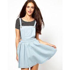6f2dab874c1 Cute denim pinafore skater dress perfect for summer🌹🌹 It s - Depop Denim  Pinafore