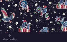 Dress Your Tech, Bright Wallpaper, Computer Backgrounds, Owls, Vera Bradley, Holiday, Christmas, Desktop, Wallpapers