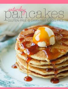 Who says you can't have pancakes on a gluten-free, dairy-free, egg-free diet. No soggy/gluey flapjacks here.