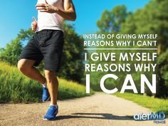 Instead of giving myself reasons why I can't. I give myself reasons why I can .  #dietmdhawaii #weightlossquotes #weightlossmotivation