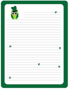 Lined Papers Owl Writing Paper  Lined Paper  Owl Theme  Pinterest  Paper Owls .