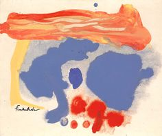 Helen Frankenthaler - Summerscene, Provincetown, 1961   Acrylic on canvas mounted on paperboard   20 x 24 in. (50.9 x 61.0 cm)