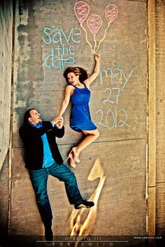 this is amazing! #engagement #chalk #balloons