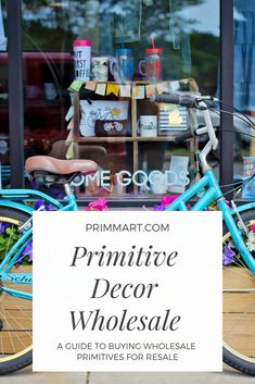 Primitive Decor Wholesale - A Guide to Buying Wholesale Primitives for Resale - Prim Mart - Craft Business Tips Wholesale Home Decor, Wholesale Furniture, Home Decor Online, Home Decor Store, Boutique Homes, A Boutique, Boutique Decor, Primitive Crafts, Primitive Snowmen