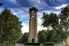 Completed in 1991 to celebrate the college's centennial, the bell tower goes as deep into the ground as it does into the sky.