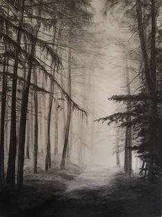 Original Landscape Drawing by Milan Kacevski | Fine Art Art on Paper | Landscape