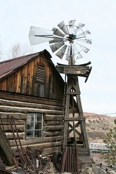 Country Living ~ Ghost Town, Jerome, AZ: Jerome wasn't dead last time we were there. There are some dilapidated buildings. Old Buildings, Abandoned Buildings, Abandoned Places, Old Windmills, Into The West, Old Barns, Haunted Places, Le Moulin, Old West