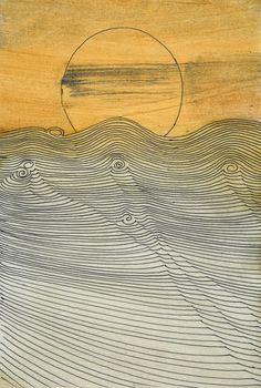 pinkpagodastudio: Wilhelmina Barns-Graham--Sea Waves and Currents