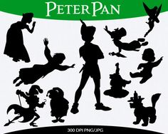 SALE 50% OFF Peter Pan Instant Download silhouette clipart digital png files PK-0918 by pinkykatieclipart on Etsy https://www.etsy.com/listing/202721296/sale-50-off-peter-pan-instant-download