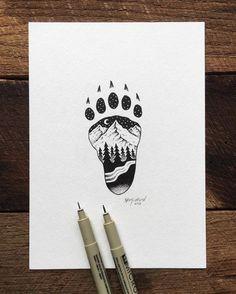 Pen and ink Illustration by artist Sam Larson.