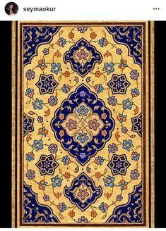 Müzehhibe, Mimar Sinan G.U Tezhip Y. Islamic Art Pattern, Pattern Art, Pattern Design, Paisley Art, Arabesque Pattern, Islamic Paintings, Iranian Art, Islamic Art Calligraphy, Beautiful Landscapes