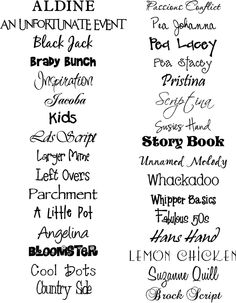 Fonts Handwriting Discover My Talking Walls: Fonts and Graphics Silhouette Fonts, Silhouette Cameo Projects, Silhouette Machine, Cute Fonts, Fancy Fonts, Kid Fonts, Typography Fonts, Vinyl Lettering, Typography Design