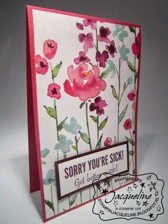 Stampin Jacqueline: Kaarten met Painted Blooms Design papier