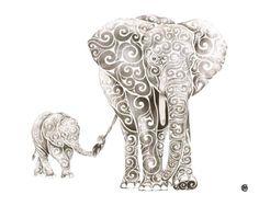 Dibujos de remolinos hechos por una ilustradora y diseñadora gráfica. Le mete remolinos de muchos colores a cualquier forma, persona o animal. Hay un par de