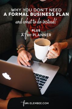Why you don't need a formal business plan (and what to do instead!)