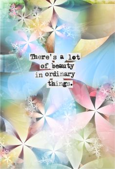 There's A Lot Of Beauty In Ordinary Things   Words Of Wisdom   The Tao of Dana