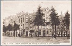 prentbriefkaart van de Plantage Middenlaan in Amsterdam met de Hollandsche Schouwburg, ca. 1928