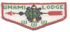 Boy Scouts Order of the Arrow beaded pocket flap for Unami Lodge #1