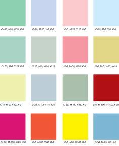 50s Colour Scheme Palette Inspiration Idea