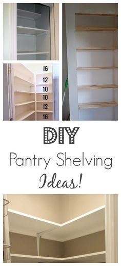 How to Build Pantry Shelving Pantry shelving Pantry and Shelving