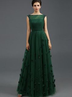 ihomecoming.com SUPPLIES Stunning Bateau Neckline Beading Flowers A-Line Floor-Length Evening Dress Elegant (2)