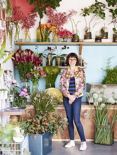 Melbourne florist Melanie Stapleton aka Cecilia Fox, at her Brunswick shop.  Photo - Eve Wilson for The Design Files.