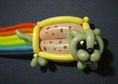Balloon Nyan Cat lol it looks like a DOG! Nyan Cat, Ballon Animals, Balloons And More, Cat Party, Art For Art Sake, Funny Pictures, Cool Stuff, Funny Stuff, Awesome Things
