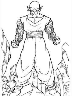 Dragon Ball Z Coloring Pages Piccolo Family Coloring Pages, Online Coloring Pages, Cool Coloring Pages, Cartoon Coloring Pages, Coloring Pages To Print, Coloring Pages For Kids, Coloring Books, Colouring, Dragon Ball Z Shirt
