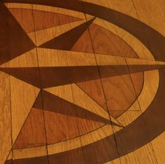 stained floor medallion - cheaper than inlay...