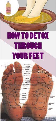 Learn how to detox through your feet. Read #detox #feet #health