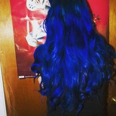 Blue Hair Dyes by Brand Manic Panic Rockabilly Blue Hair color Bright Blue Hair, Dyed Hair Blue, Bright Hair Colors, Hair Dye Colors, Hair Color Blue, Cool Hair Color, Hair Inspo, Hair Inspiration, Psychobilly Hair