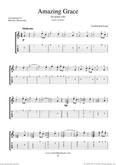 Amazing Grace sheet music for guitar solo [PDF-interactive] Guitar Tabs Songs, Easy Guitar Songs, Guitar Sheet Music, Guitar Solo, Guitar Chords, Guitar Tips, Music Tabs, Guitar Scales, Music Sheets
