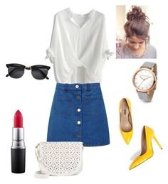 """""""Untitled #10"""" by elene-ioseliani on Polyvore featuring Chicwish, Miss Selfridge, Under One Sky and MAC Cosmetics"""