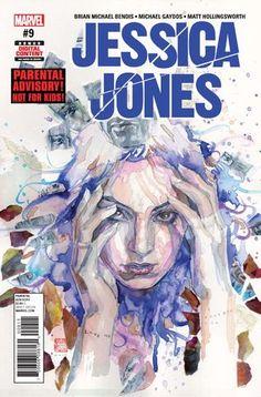 Jessica JONES Vol1 9 (2017) by David MACK | Beautiful COVERS of Marvel COMICS