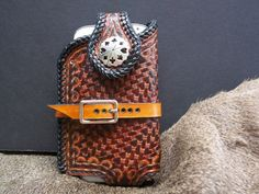 Hand Tooled Leather SmartphoneCellphone and by POPSLEATHERSHOP