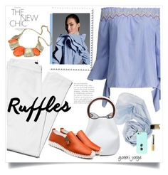 """""""Ruffles"""" by goreti ❤ liked on Polyvore featuring ruffledtops"""