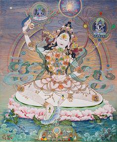 «Я, йог, бесстрашно вступаю в реку познания всепроникающей власти сансары и бесконечной божественной нирваны. Я танцую на телах поверженных божеств,…